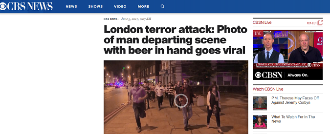 Attentato Londra, keep calm and drink on