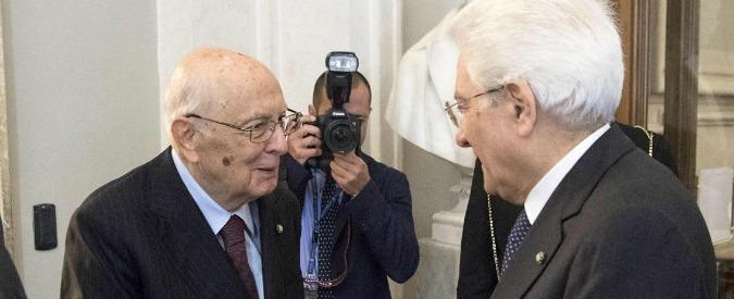"""Legge elettorale, Napolitano: """"Intesa tra i 4 leader per convenienza. Voto anticipato? Colpo alla credibilità del Paese"""""""