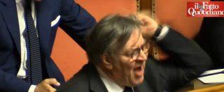 """Ius soli, legge al Senato e Lega all'arrembaggio. La ministra Fedeli in infermeria, Volpi espulso dopo i """"vaffa"""" a Grasso"""