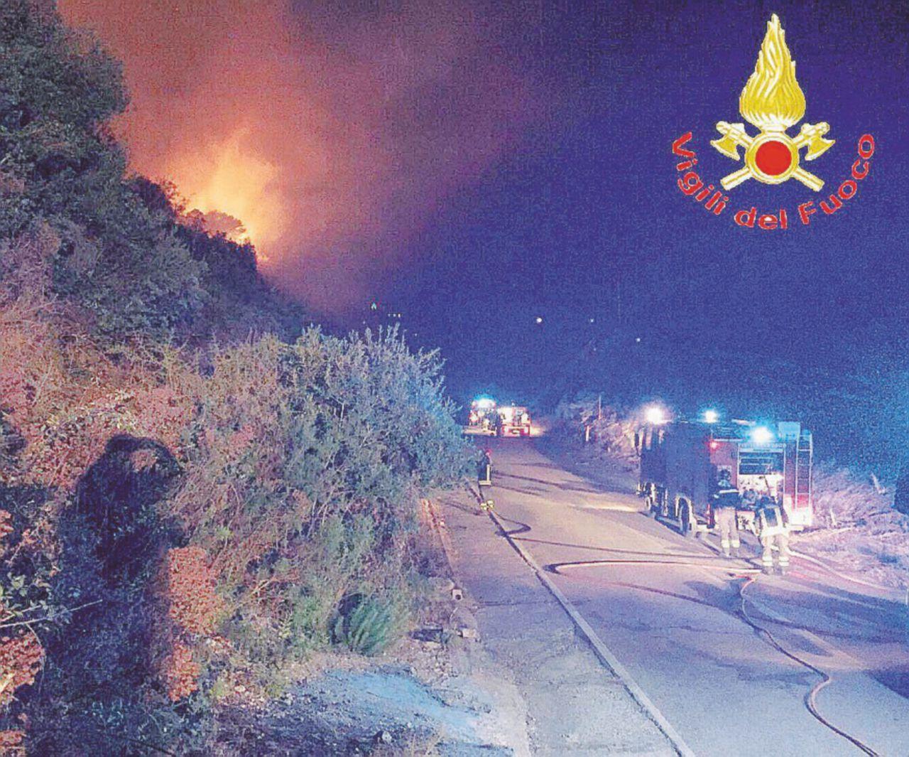 Incendi nei boschi: divieto di spegnerli per gli ex forestali