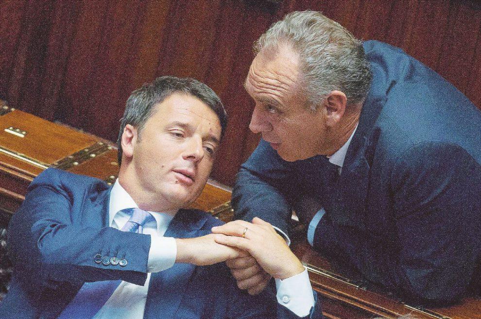 Vicini –  Matteo Renzi con il vicepresidente del Csm Giovanni Legnini, ex sottogretario nel suo governo  –  LaPresse