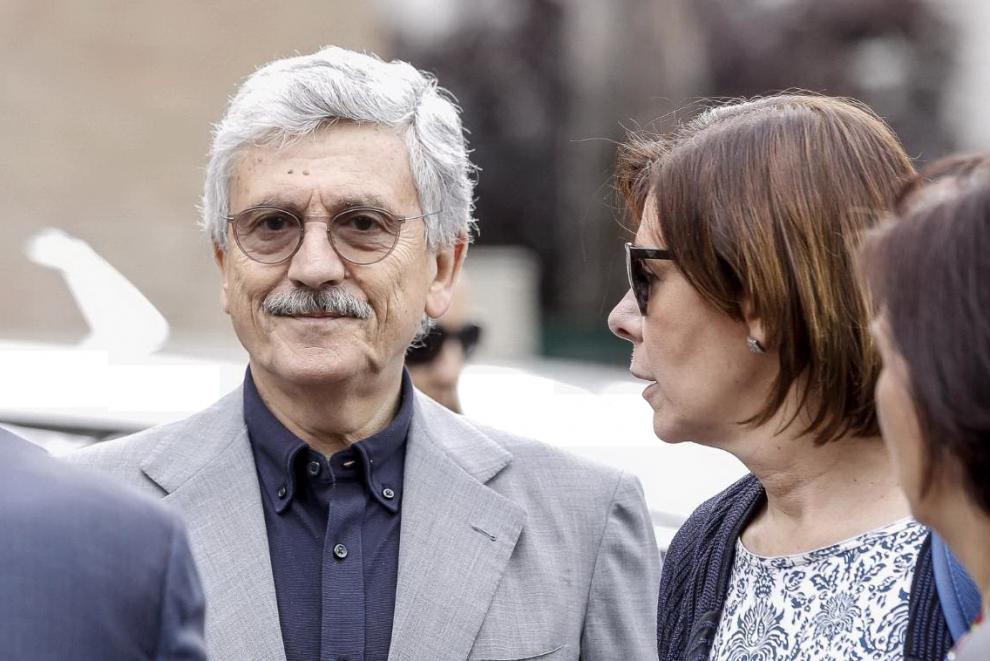 Massimo D'Alema con Bianca Berlinguer