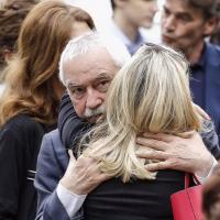 L'ex tesoriere dei Ds Ugo Sposetti (ora nel Pd) saluta Laura Berlinguer