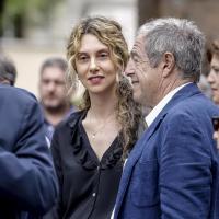 La ministra per la Pubblica amministrazione Marianna Madia con il giornalista Giovanni Minoli