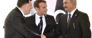 """Libia, accordo a Parigi tra Sarraj e Haftar: """"Cessate il fuoco e presto le elezioni"""". Macron: """"Oggi pace fa grandi progressi"""""""