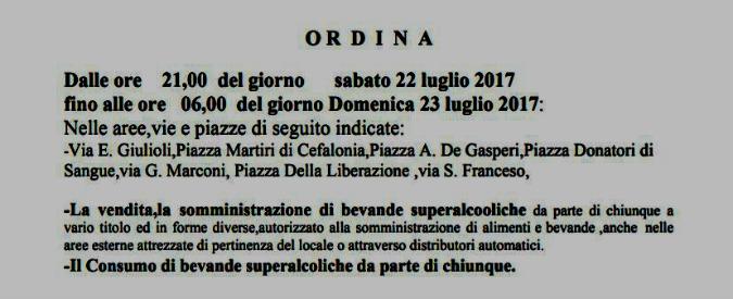 """Gallese, l'ordinanza errata è comica: """"Il sindaco ordina il consumo di alcol. Multe fino a 500 euro a chi non beve"""""""