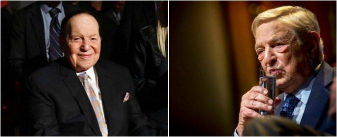 George Soros e Sheldon Adelson: lobby sioniste e antisioniste in lotta
