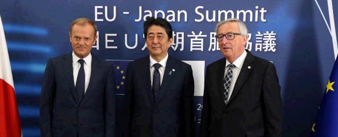 """Trattato Ue-Giappone, passi avanti per il libero scambio dopo summit a Bruxelles. L'annuncio: """"C'è intesa politica per l'Epa"""""""