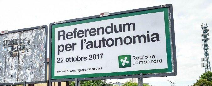 Referendum per l'autonomia: pensavamo di essercene liberati, invece ritorna la fiera delle identità