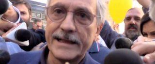 """D'Alema in piazza con Pisapia: """"Alle elezioni andremo da soli. Se avremo successo spingeremo Pd verso centrosinistra"""""""