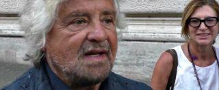 """Grillo a Montecitorio per discussione sui vitalizi: """"Pd si prenda pure il copyright. Importante è dare un segnale a chi sta fuori"""""""