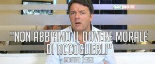 """Migranti, il post salviniano che Renzi ha fatto sparire: """"Aiutiamoli a casa loro"""". E le sue parole a 'OreNove'"""