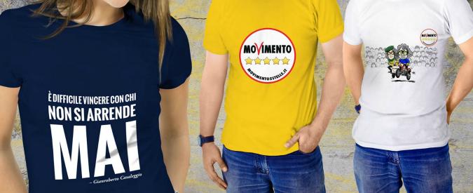 """M5s apre shop online: da tazze a t-shirt, in vendita gadget con il logo. """"Ricavati per Movimento e democrazia diretta"""""""