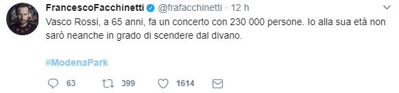 I tweet del concerto
