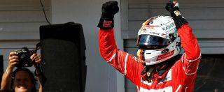 """Formula 1, l'esultanza di Vettel con il team Ferrari: """"Vai! Un'altra bandiera a Maranello. Grande lavoro ragazzi"""""""