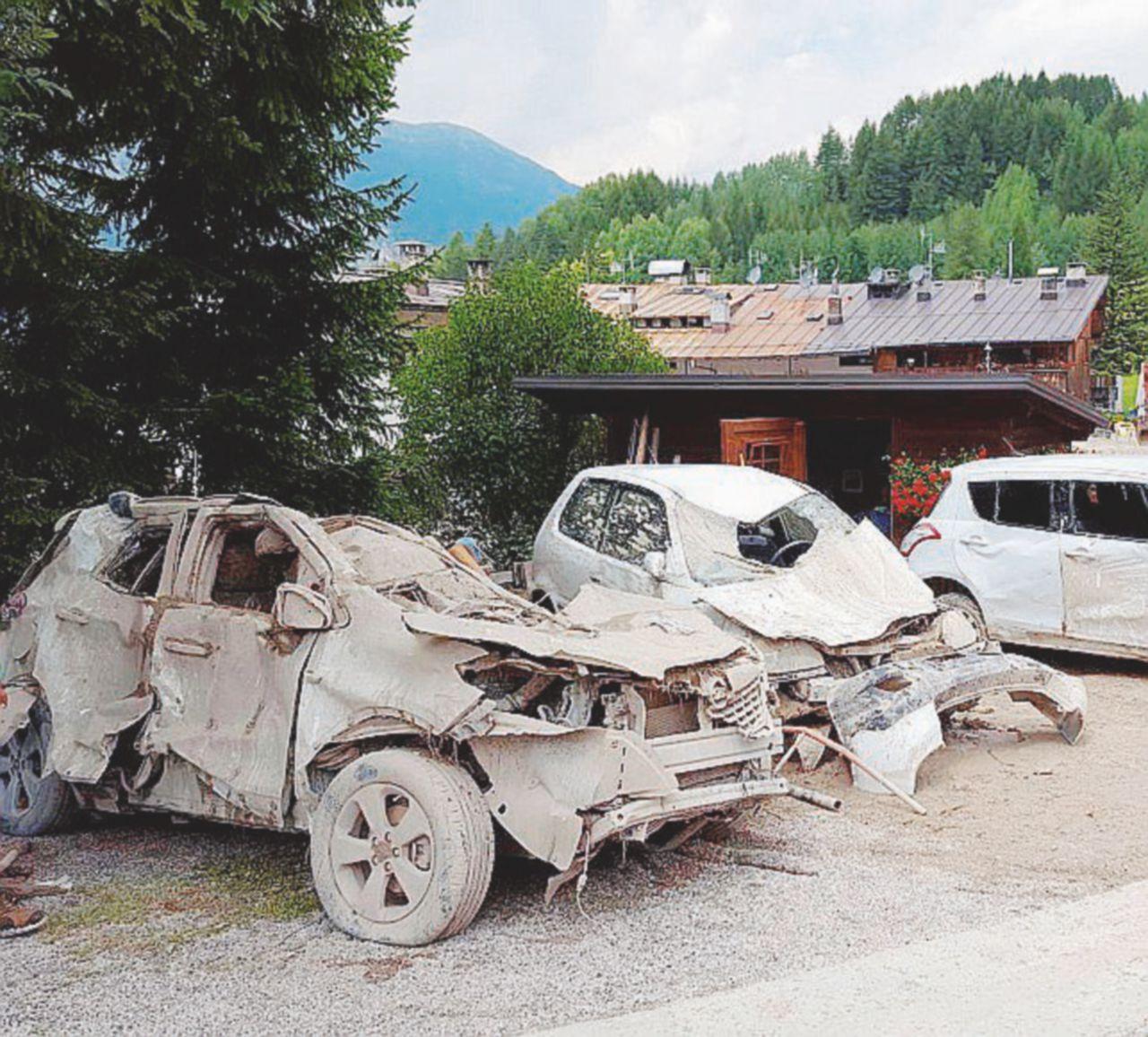 Stavolta a Cortina d'Ampezzo la valanga è di fango