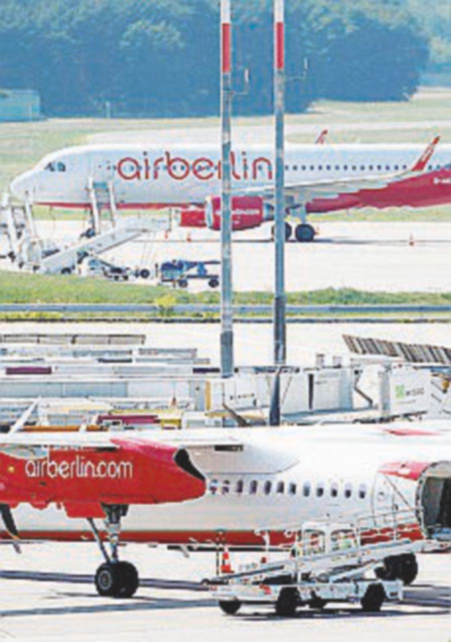 Air Berlin dichiara lo stato di insolvenza. Etihad blocca i fondi