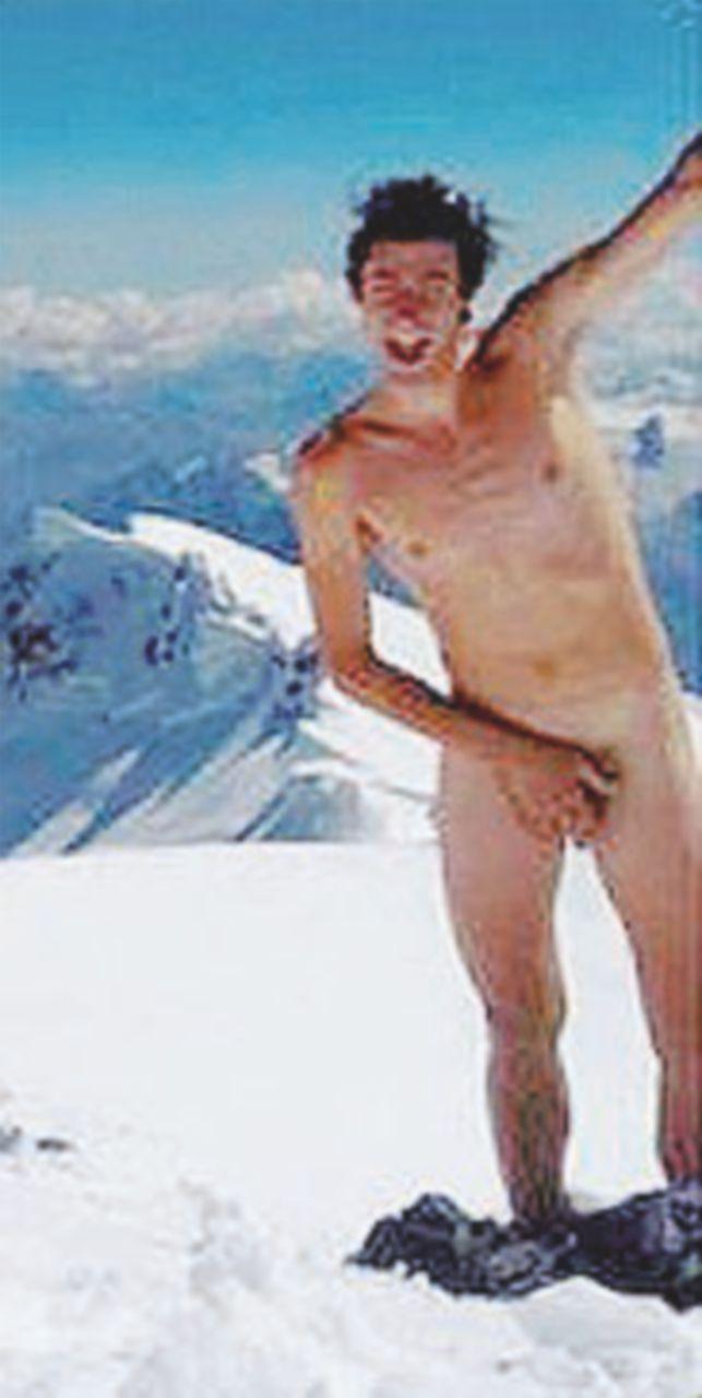 Nudo sul Monte Bianco: non è l'ennesimo esibizionista ma un atleta che protesta