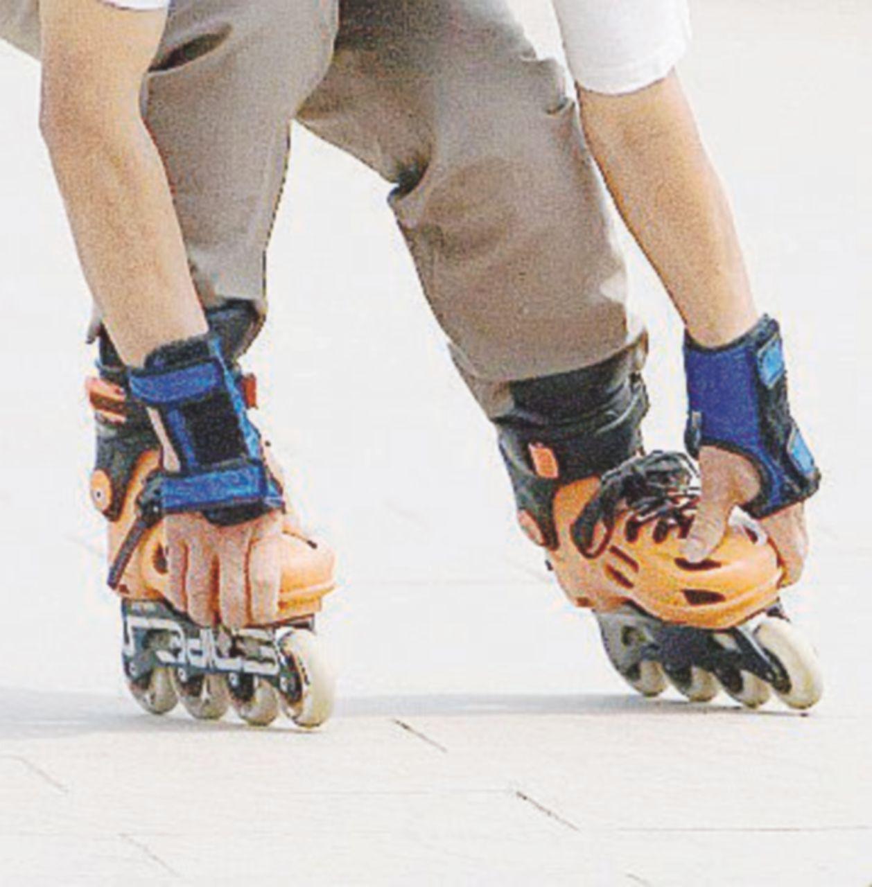 Dal ghiaccio all'asfalto grazie ai rollerblade