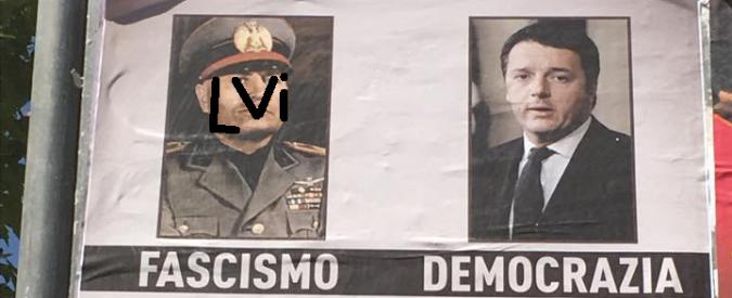 """Salerno, Noi con Salvini e i manifesti inneggianti al Duce: """"Meglio di Renzi"""""""