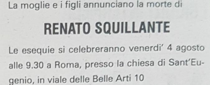 Renato Squillante morto: il magistrato coinvolto nell'inchiesta sulle sentenze Sme e Imi-Sir. La Cassazione lo assolse