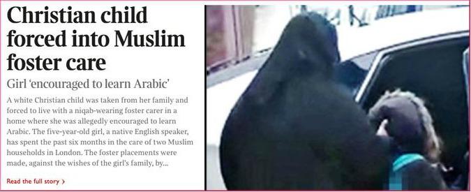 """Londra, bimba cristiana affidata a musulmani praticanti. Il giudice: """"Verrà affidata alla nonna"""""""
