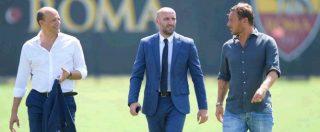 """Francesco Totti, prima volta da dirigente a Trigoria. Il diesse Monchi: """"Strano non vederlo vestito da calciatore"""" – FOTO"""