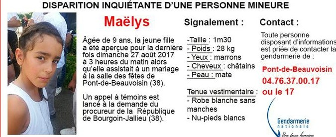 Maelys de Araujo, in Francia si cerca bimba di 9 anni scomparsa durante festa di nozze: ipotesi rapimento