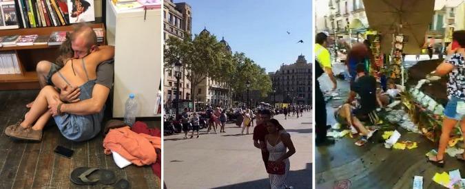 Barcellona i testimoni furgone puntava la gente che for Agosto a barcellona