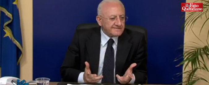 """Abusivismo, De Luca provoca il governo: """"Impugnano la nostra legge? Allora mandino l'esercito a demolire"""""""
