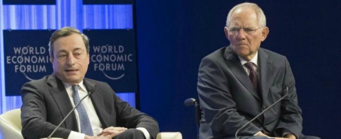 """Quantitative easing, Schäuble difende Draghi dall'attacco della corte tedesca: """"Ha rispettato il mandato"""""""
