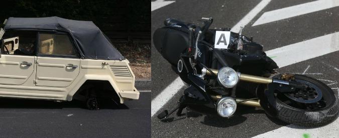 Milano, auto d'epoca perde ruota che colpisce e uccide un motociclista sul cavalcavia del Ghisallo