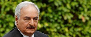 """Migranti, il generale libico Haftar: """"Con 20 miliardi dall'Europa fermiamo il flusso. Sarraj ha violato gli accordi di Parigi"""""""