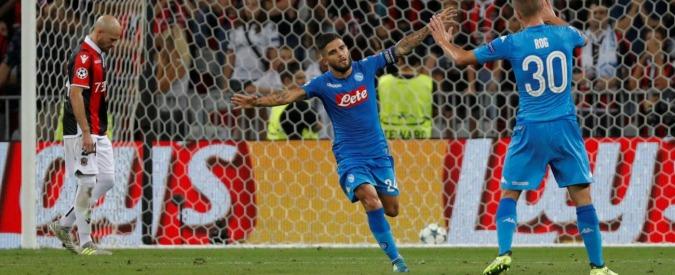 Napoli in Champions League, missione compiuta: 2-0 al Nizza anche al ritorno