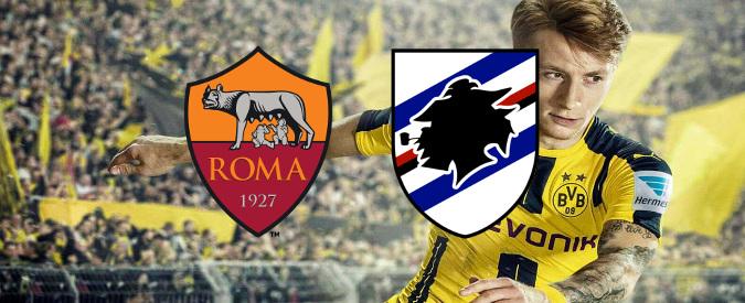 Roma e Sampdoria (quelle vere) al mondiale per club di calcio (quello elettronico)