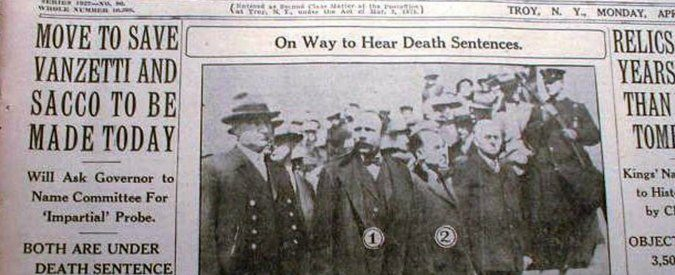 Sacco e Vanzetti, 90 anni fa l'esecuzione in cui 'la giustizia fu crocefissa'