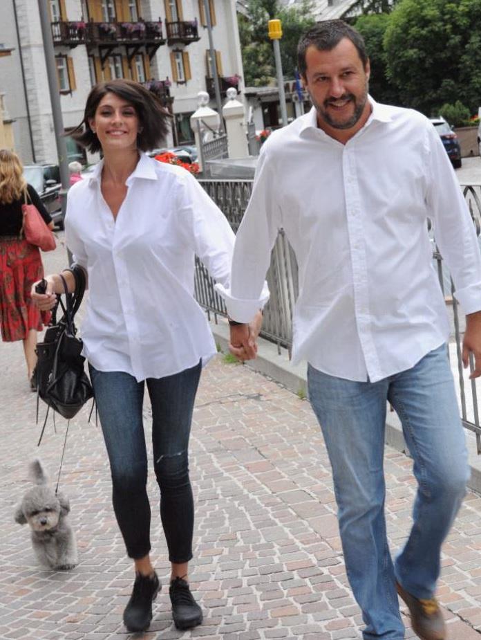 Matteo Salvini e Elisa Isoardi a Cortina