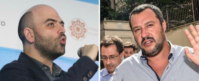 """Migranti, Saviano: """"Salvini vuole attirare la canaglia razzista"""". Il leader della Lega: """"Con noi al governo, via la sua scorta"""""""