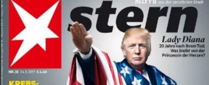 Trump come Hitler secondo Stern: in copertina mentre fa il saluto nazista