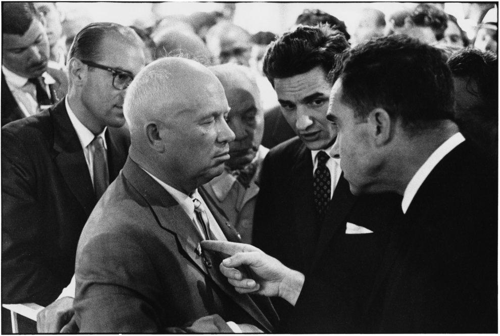 USSR. Moscow. 1959. Nikita KHRUSHCHEV and Richard NIXON.