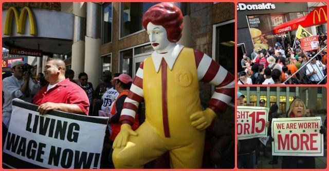 McDonald's, Burger King e gli altri fast food: lavoratori in piazza per protestare contro salari bassi e mancanza di diritti
