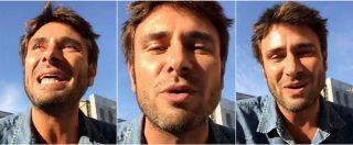 """Italia 5 stelle, il collegamento emozionato di Di Battista (""""quasi papà""""): """"Ecco perché non mi sono candidato"""""""