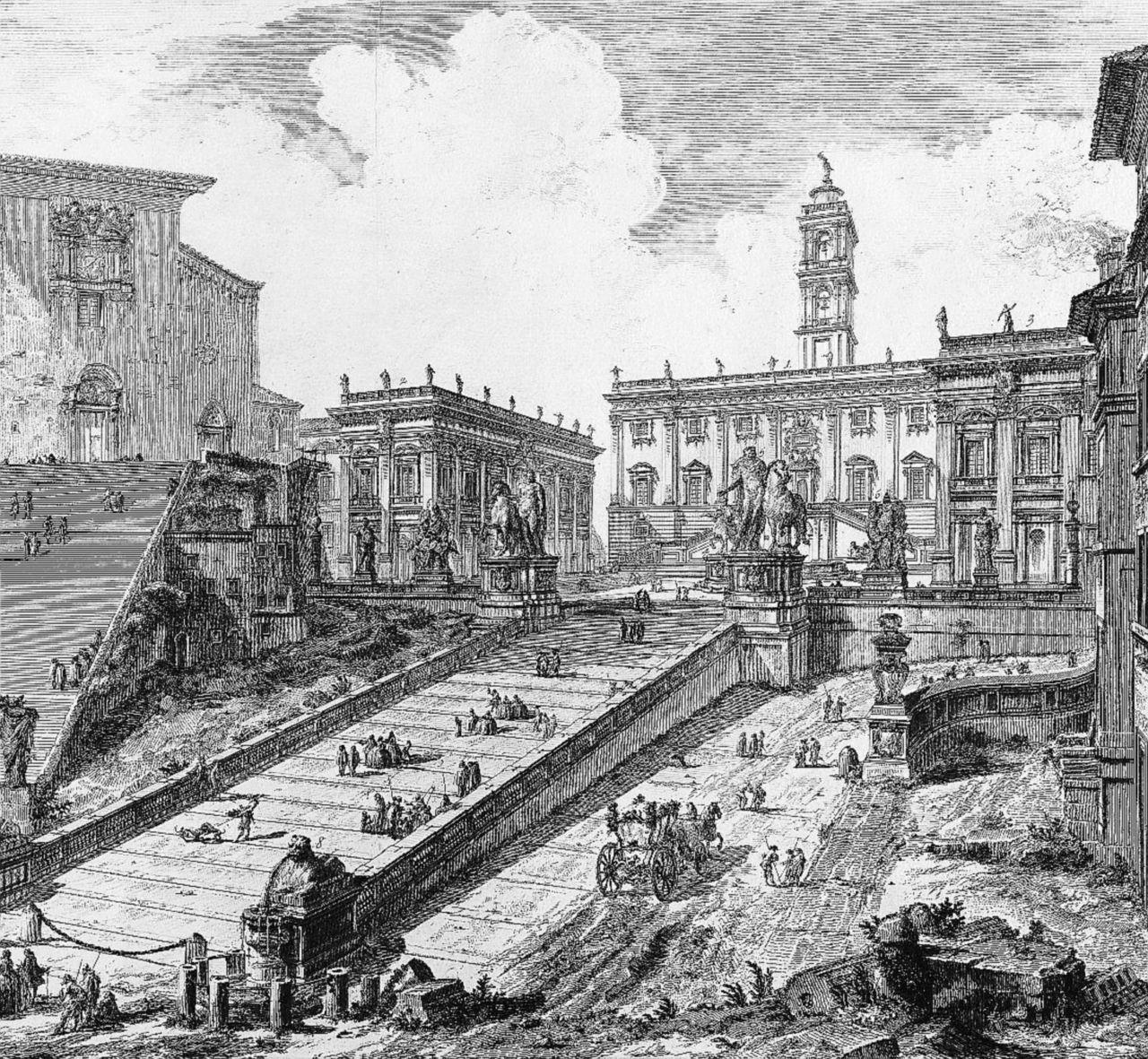 La grandiosa Roma del Settecento ricreata da Piranesi