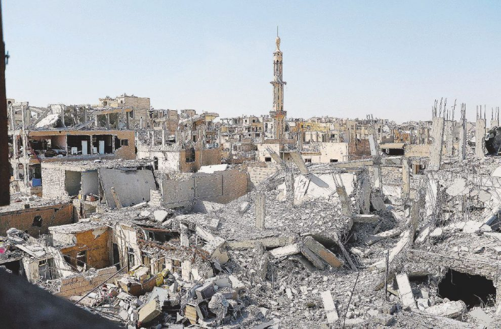 La distruzione della citt� vecchia � Reuters