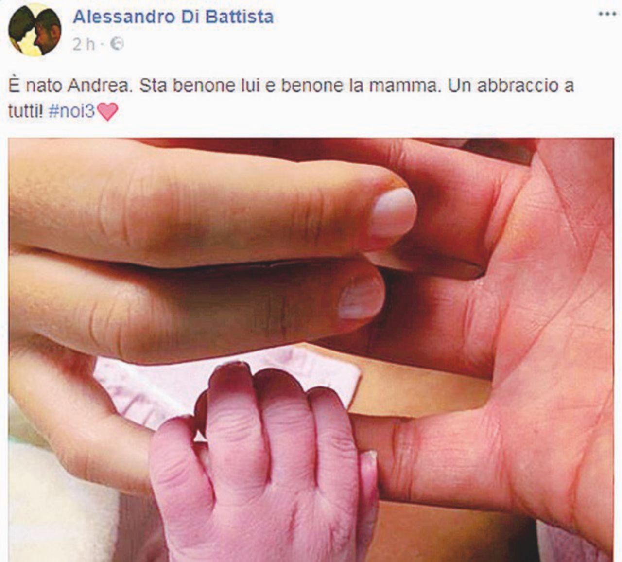 Di Battista diventa papà: lo scrive su Facebook