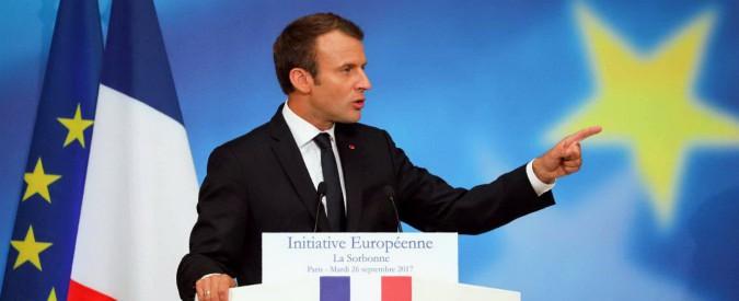 """Macron e il rilancio dell'Ue: """"Sicurezza è la prima condizione per vivere insieme"""""""