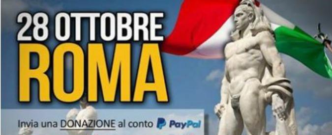 """Forza Nuova lancia marcia su Roma per il 28 ottobre (95 anni dopo Mussolini). La sinistra protesta: """"Minniti la vieti"""""""