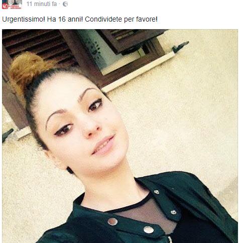 Allerta per una ragazza scomparsa in Puglia, possibile allontanamento volontario