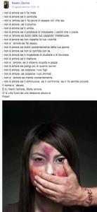 """Noemi Durini    l'ultimo post della 16enne uccisa dal fidanzato    """"Non è amore se ti fa male"""