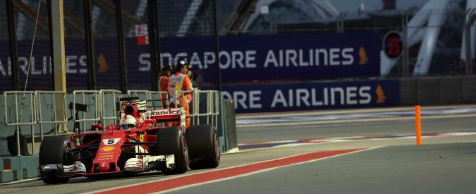 F1, Gran Premio di Singapore: Sebastian Vettel in pole position, quarto Raikkonen. Hamilton e Bottas solo in terza fila